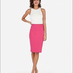 J. Crew Hot Pink Pencil Skirt